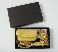 Bottega Veneta Gold Vermeil Intrecciato Leather Small Waist Belt Bag RARE