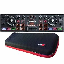 Numark DJ2GO2 Portable Pocket Serato DJ Controller w/ Audio Interface + Case