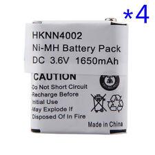4X 1650mAh Ni-Mh Battery for MOTOROLA HKNN4002A HKNN4002B KEBT-071B KEBT-071C