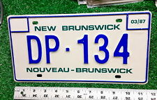 NEW BRUNSWICK - 1987 Diplomatic license plate - very nice original