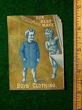 1870s-80sOur Best Make, J W Rosenthal & Co's Celebrated Boys Clothing Card F14