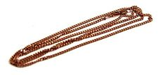 9CT ROSE GOLD KERB CURB CHAIN NECKLACE 70cm 8grams