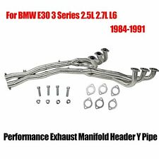 FOR 84-91 BMW E30 3-SERIES 2.5/2.7 STAINLESS MANIFOLD HEADER/EXHAUST + X PIPE
