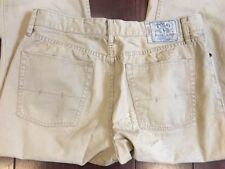 POLO RALPH Lauren Flat Front Chino Khaki Pants, 34 x 34, Straight Leg, EUC
