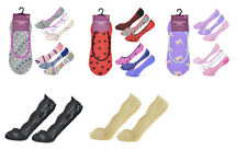 Ladies Shoe Lace Liners Footsies Nude Black Invisible Sock Grip Pads