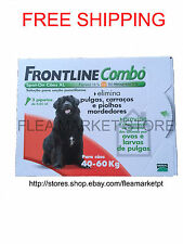 Frontline combo 3 x pack Merial large dog 40kg - 60kg 88 lb - 132 lb red flea