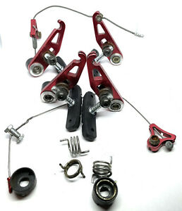 Red Anodized Cantilever Brakes Vintage MTB Off A Yeti Arc