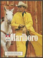 MARLBORO cigarettes - 1989 Vintage Print Ad