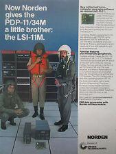 8/77 PUB UNITED TECHNOLOGIES NORDEN PDP-11/34M DEC MINICOMPUTER PILOT HELMET AD