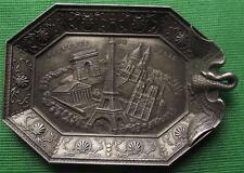c1900 Art Nouveau Souvenir de Paris Spelter Pewter Vide Poche Pin Ring Tray