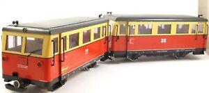 LGB 21650 Triebzug VT 133 mit Beiwagen VS 639 DR Spur G Mängel Bastler