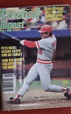 1985 BASEBALL DIGEST PETE ROSE CINCINNATI REDS - MAKE AN OFFER!