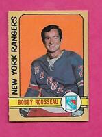 1972-73 OPC # 233 RANGERS BOBBY ROUSSEAU  HIGH #  GOOD CARD (INV# C1468)