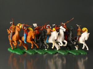 Elastolin Steckfiguren - Indianer zu Pferd - Konvolut