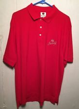 Bacardi Short Sleeve Polo Shirt Mens Size L RED Cotton VERY NICE