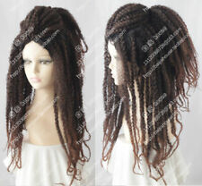 Jamaica Reggae HIPHOP Dreadlocks Fashion Long Dark Brown Curly Cosplay Party Wig