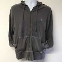 Mens Penguin Original Grey Hoodie Hoody Size Small (693b)