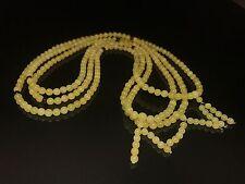 Baltic Amber, Elastic Tibetan Buddhist Mala Prayer -108 beads (18.6 g.)
