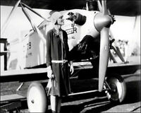 Amelia Earhart Photo 8X10 - Posing By Plane 1928 - Buy Any 2 Get 1 Free