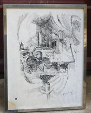 """très beau dessin original à l'encre """"notre dame de Paris signé de Marc VALOPIN"""
