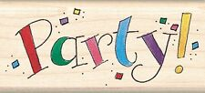 Party Mambi Inkadinkado Wood Stamp NEW invitation rubber mounted birthday event