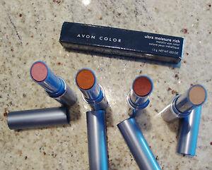 AVON Ultra Moisture Rich Metallic STICK Eye Color Eyeshadow PEACH Lot of (2) New