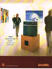 PUBLICITE ADVERTISING  2000   SCHOLTES  four à porte froide GALBE