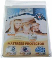 Full Size Waterproof Zippered Vinyl Mattress Protector Hypoallergenic Bed Cover