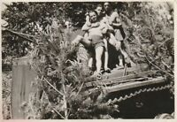 Vintage photograph, affectionate shirtless young soldiers, gay interest