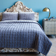 Dwell Studio Mercer Quilt - Smoke Color - Queen Size - NEW
