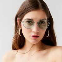 Vintage Round Sunglasses Mens Womens Fashion Metal Pilot Shades Retro Glasses