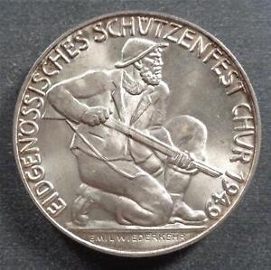 Switzerland - Schutzenfest, Silver Shooting Token, 1949