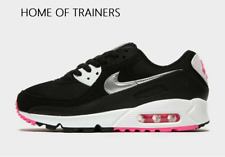 Nike Air Max 90 Black Pink Girls Women's Trainers All Sizes