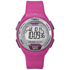 Timex Ironman Lap Pink Watch Women's Gray Resin New Essential Digital Strap