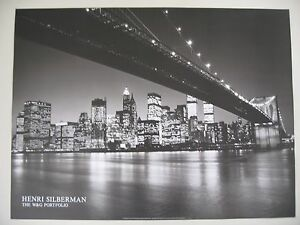 MANHATTAN PHOTOGRAPHED BY HENRI SILBERMAN, AUTHENTIC 1989  POSTER