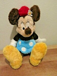"Disney Parks Minnie Mouse Fluffy 18"" Long Pile with Brown Ears Plush Stuffed Toy"