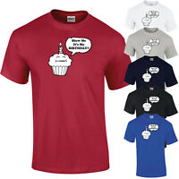 Blow Me It's My Birthday Funny Cupcake Mens Womens Unisex T-Shirt T Shirt