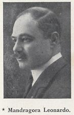 G5130 Ritratto Deputato Mandragora Leonardo - 1924 Stampa epoca - Vintage Print