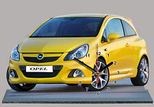 MODEL CARS, OPEL CORSA-01, car passenger,11,8x 7,8 inches  with Clock