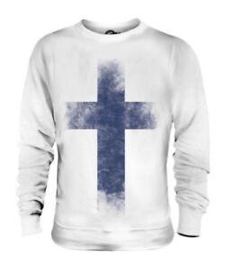 Finlandia Descolorido Bandera Unisex Suéter Suomi Fútbol Finlandés Camisa Regalo