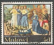 Malawi Scott# 91, Nativity by Piero della Francesca, 4p, Used, 1968