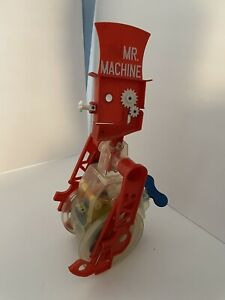 Vintage Rare 1987 Ideal Mr Machine Windup Walking Toy Robot Works Whistles