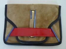 LACOSTE Brown Suede Leather Clutch Limited Edition Purse/Wallet - Brand New