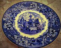 ANTIQUE WEDGEWOOD GORGEOUS BLUE FERRARA SHIP PATTERN ETRURIA ENGLAND 1891-1901