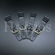 18 20 22 MM Black Silicone Rubber Watch Band Strap Fits Seiko Diver Hot USA Soft