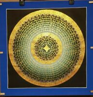Handpainted Original Endless Knot OM Tantric Mandala thangka Painting - BTTM-147