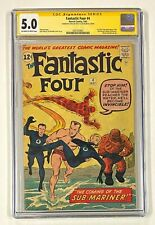 FANTASTIC FOUR #4 Marvel STAN LEE Signed CGC 5.0 Sub-Mariner 1st Silver Age