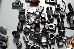 FILM CAMERAS LENSES SLR SPARES OR REPAIR Pentax Chinon Zenit Tamron