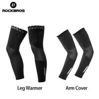 RockBros Winter Fleece Warm Riding Sports Windproof Cuff Leg Cover Arm Cover Set