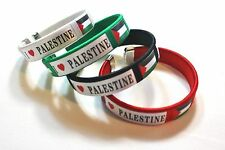 Lot of:  4 Palestinian Bracelets - Palestine Flag Four Colors Wristband